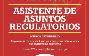 Biomont Busca  Asistente de Asuntos Regulatorios